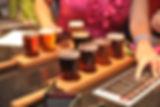 Beer flights at Pig Pounder