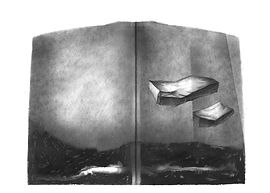 Texte de Bernard Noël. Quatre dessins originaux de Jacquie Barral. 30 ex. (32 cm x 28 cm).