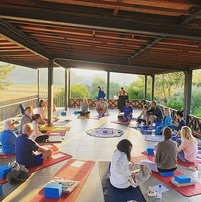 Daily practice of pranayama, chanting, m