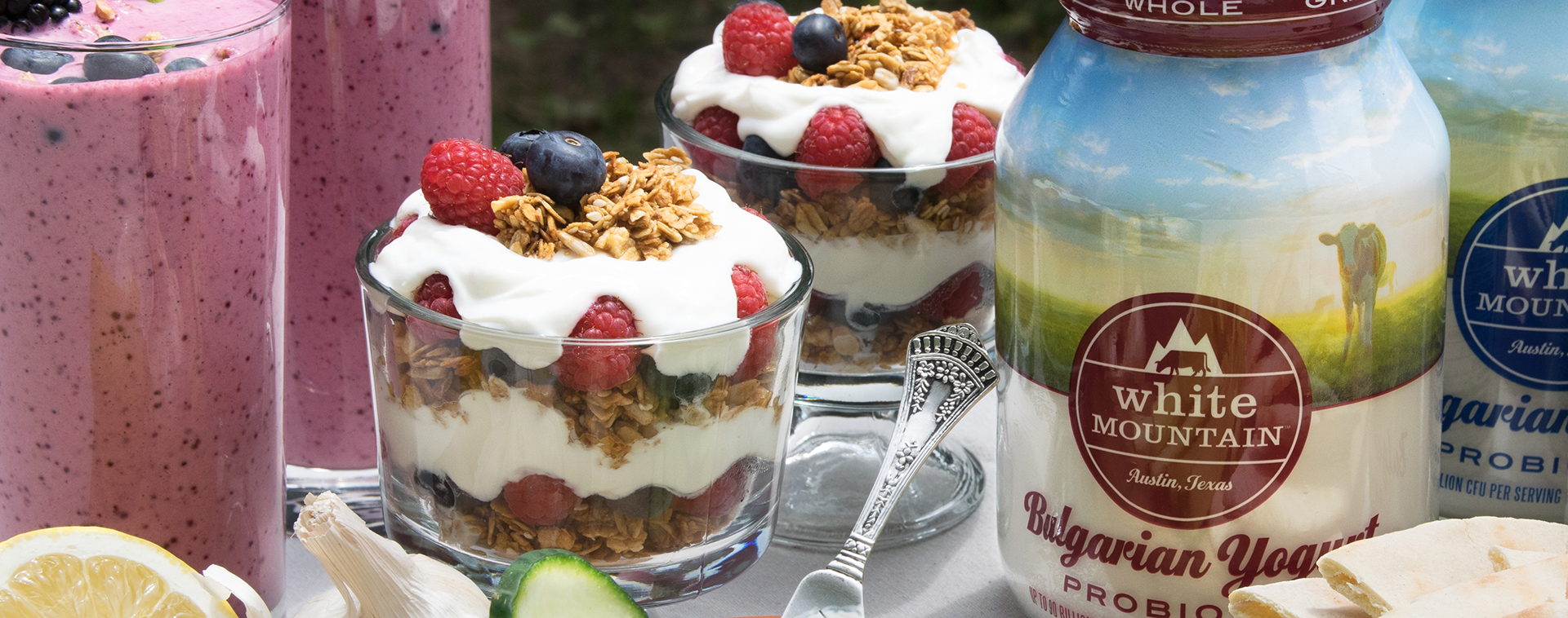 Creamy Bulgarian Yogurt Parfaits