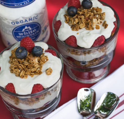 White Mountain Foods organic nonfat Bulgaian Yogurt parfaits