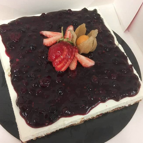 Cheesecake speculoos et fruits rouges