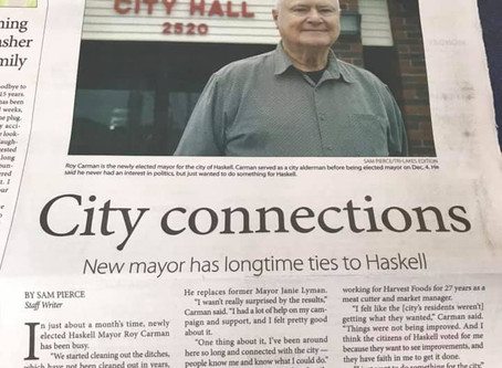 Client, Roy Carman, makes The News!
