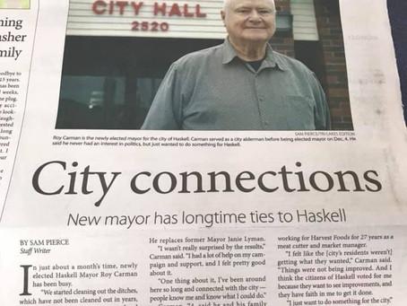 Client, Roy Carman, makes The News!