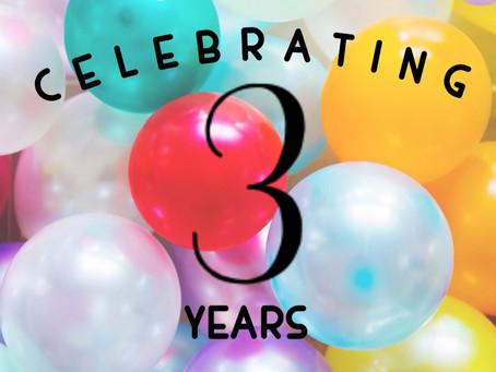 Happy 3 Years!