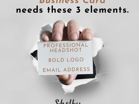 3 Things for your Biz Card