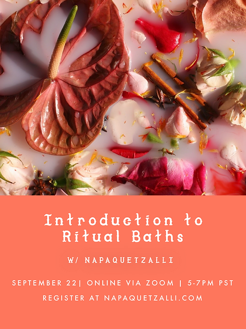 INTRODUCTION TO RITUAL BATHS 9/22/21 *LIVE CLASS + SUPPLY KIT*