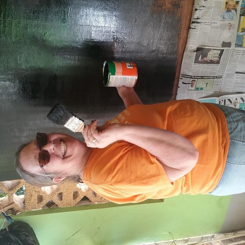 Marijo making a blackboard.jpg