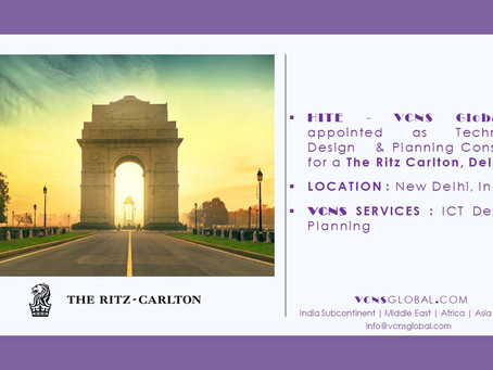 """VCNS Global Company signed the new project """"The Ritz Carlton, Delhi"""""""