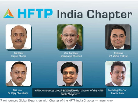 HFTP Announces Global Expansion with Charter of the HFTP India Chapter