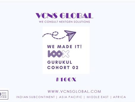 VCNS Global selected for 100X.VC Entrepreneurship Gurkul Cohort 2