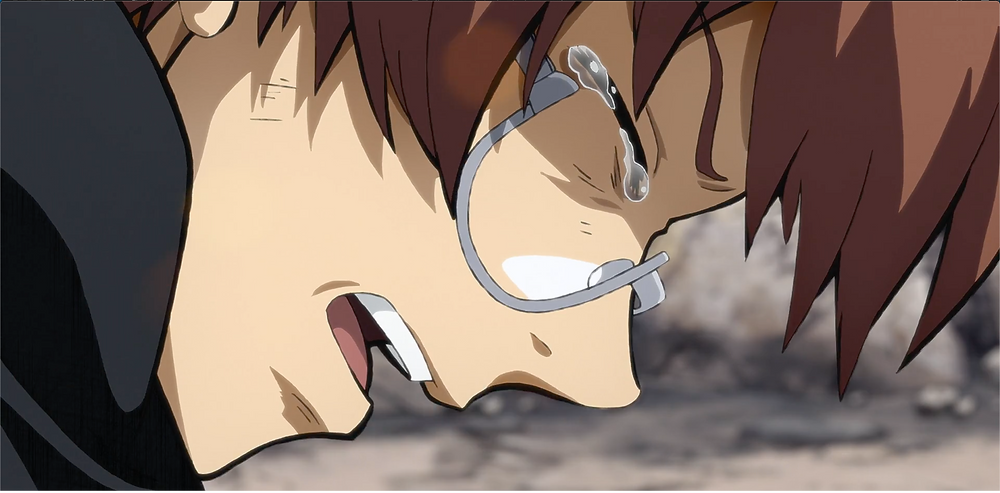 Glasses' cry for help against this helpless, crumbling body