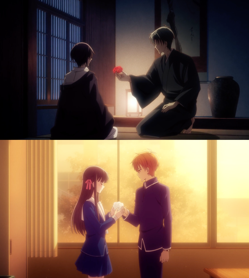Flowers for You | Shigure's red flower and Kyo's white flower