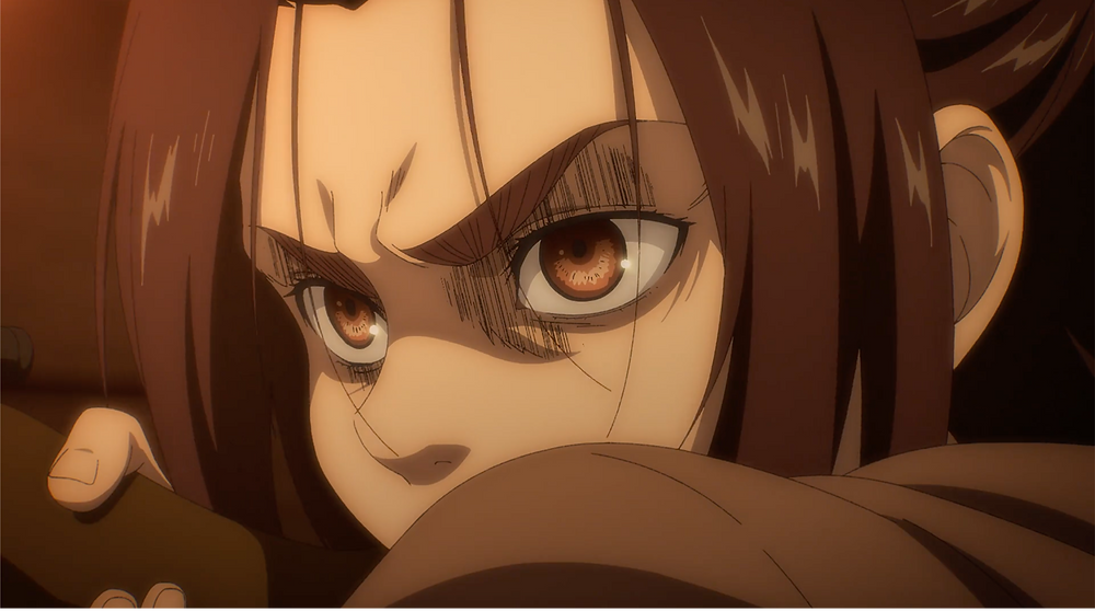 Gabi with the immense look of rage caught in her eyes