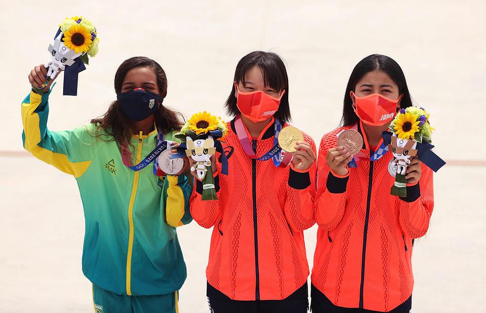 The final three | (from left to right) Leal, Nishiya, Nakayama | (c) Japan Times