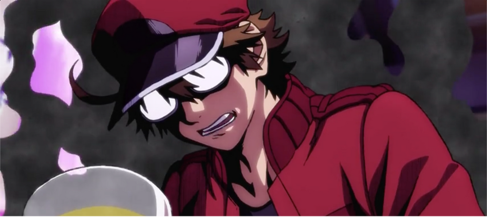 """Red Blood Cell AA2153 clouded by a """"black fog"""" (acetaldehyde) as his frustrations fired up"""