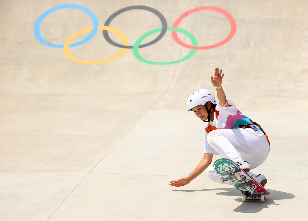 Nishiya executing an attempt to score in the games | (c) CBS News