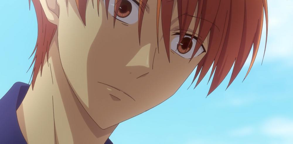 Kyo struck by Momiji's retort. What was that?
