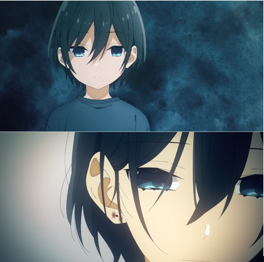 Different ages, same sadness - The smile has left your eyes, Izumi...