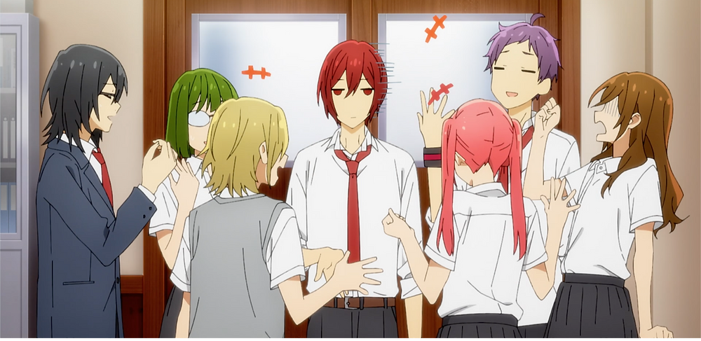 """Cooling off at the student council's room. Look at President Sengoku's face! """"What a burdensome!"""""""