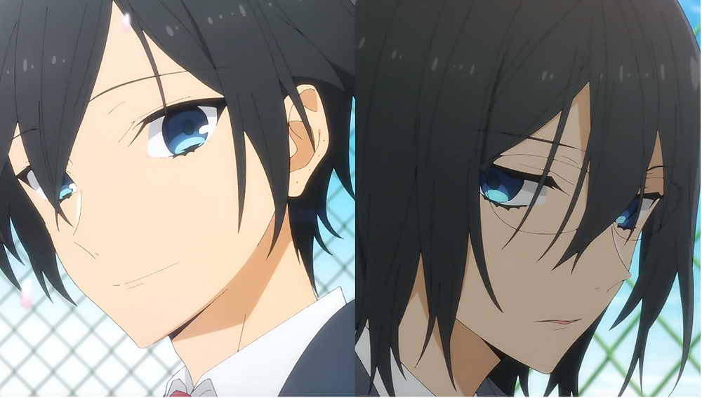 """Light vs. shadow   The contrast created a distinction of a """"change"""" from the old (dark) to a new (bright) Miyamura."""