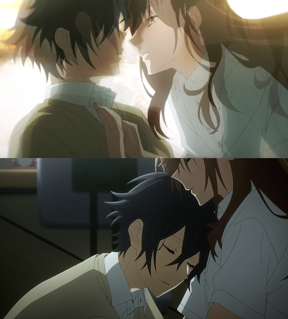 The intimate exchange of hugs between Hori and Miyamura! Ohh to be encapsulated in those embraces!