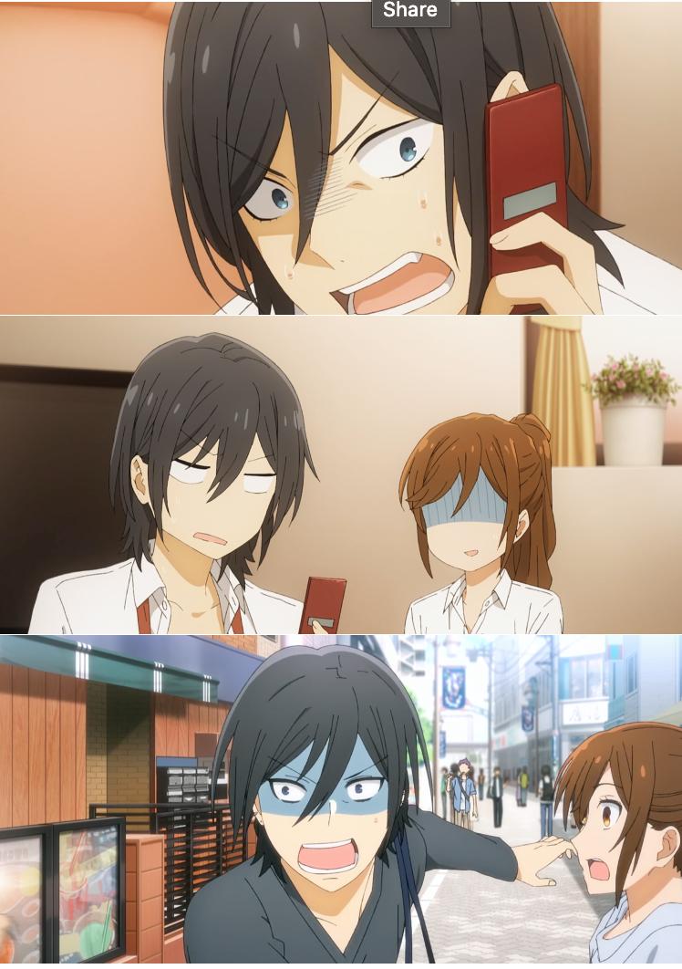 Miyamura and his various expressions! Flustered, huh?