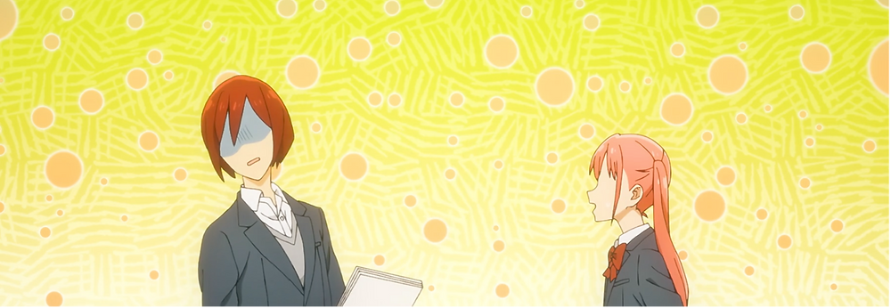 A cute Remi pestering a troubled Sengoku!