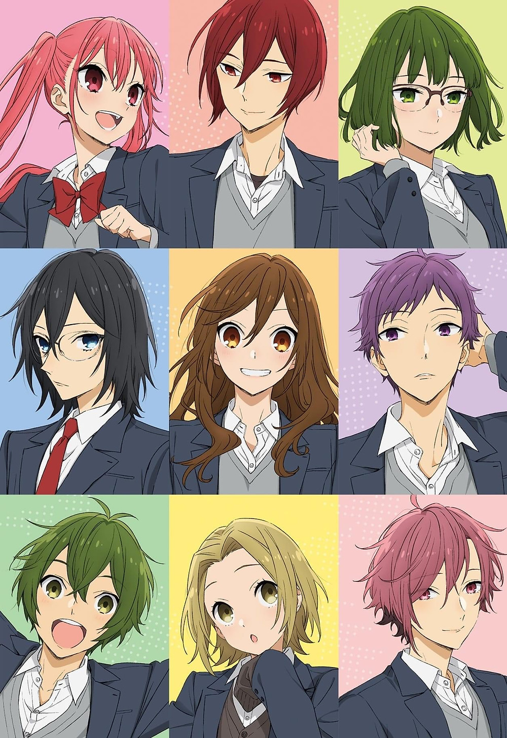 Hori and Miyamura and the students of Class 3-1