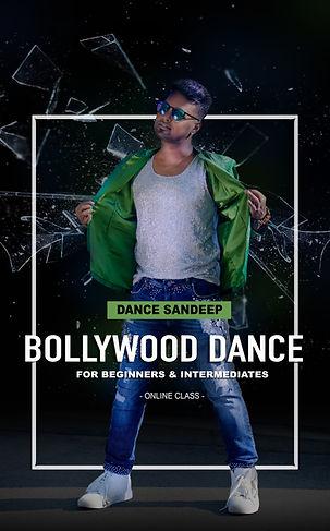 Dance Sandeep's Online Bollywood Dance Class ad poster