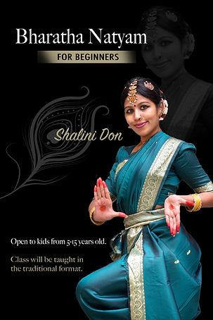 Shalini Don's Bharatha Natyam Dance Class ad poster