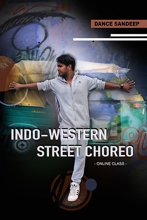 Dance Sandeep's Indo-Western Street Choreo ad poster