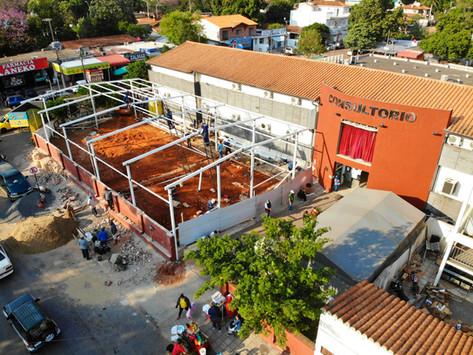 Toma forma el pabellón de terapia intensiva construido por la Municipalidad de Villa Elisa