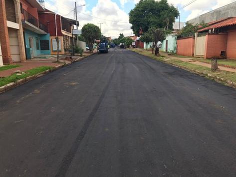 Intensos trabajos de recuperación de calles en Fernando de la Mora