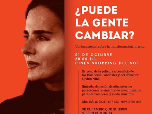 """Invitan al estreno del documental """"Puede la gente cambiar"""""""