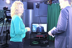 Training Kamera Moderation TV Studio