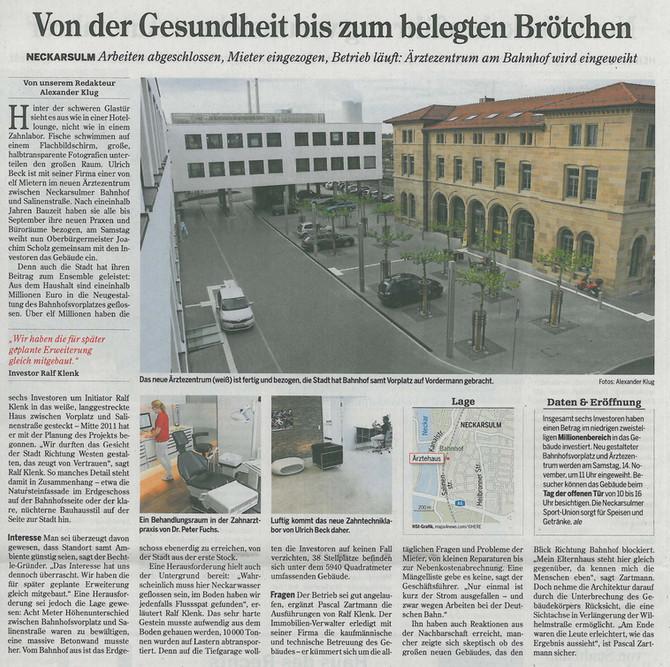 Pressebericht Ärztezentrum Neckarsulm