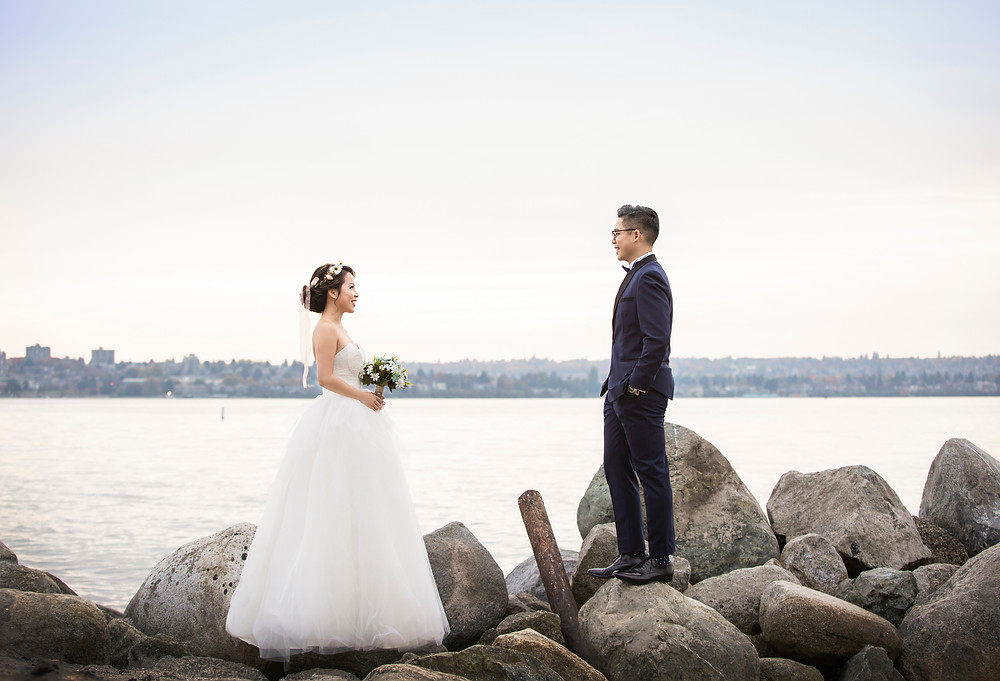 wedding photo at Stanley park