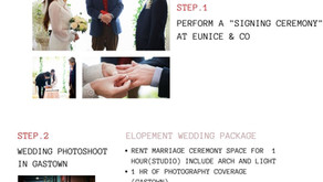 elopement wedding package is available now