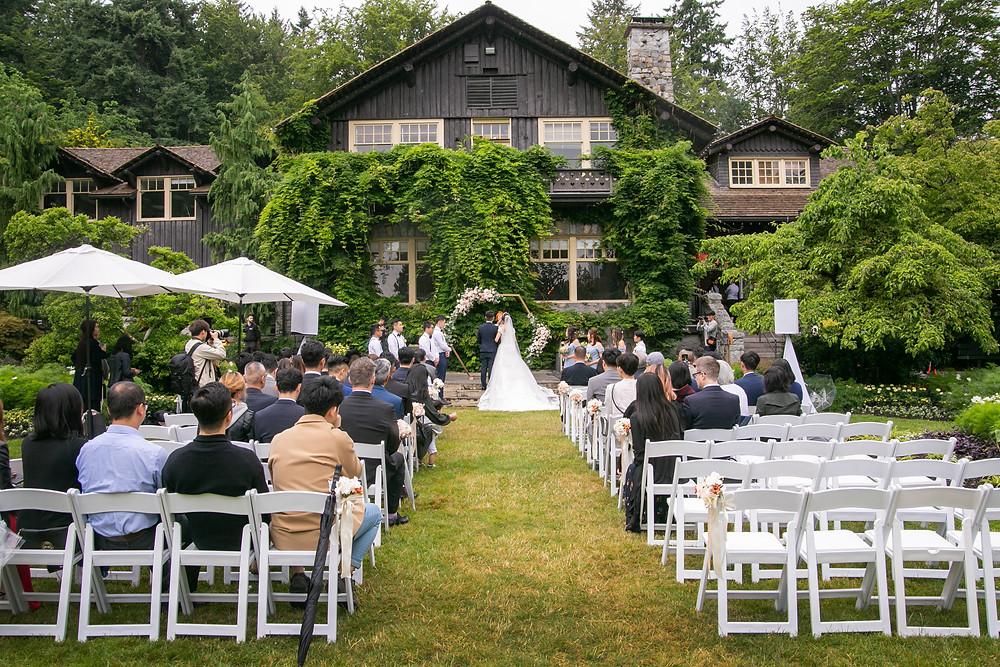 Wedding photo at Stanley Park Pavilion