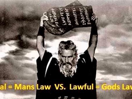 God's Law vs man's law