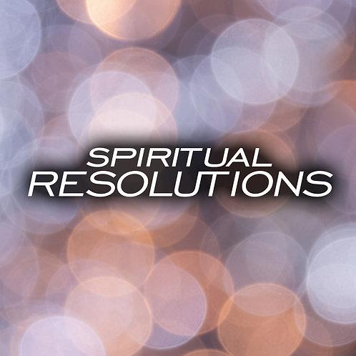 Spiritual Resolutions CD/DVD