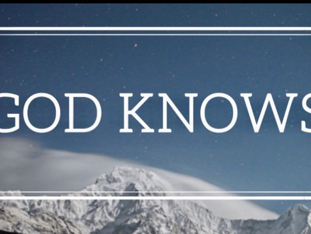 God knows the truth - good AND bad.