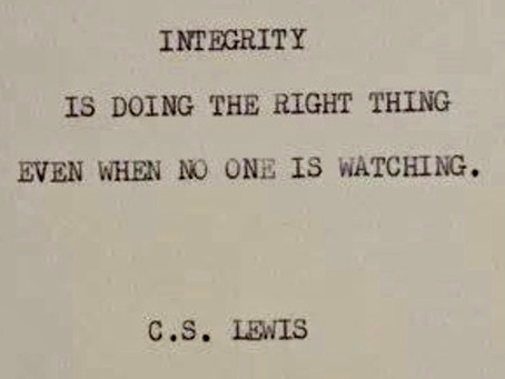 Integrity matters!