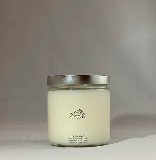 Perfumed Container Candle; Herbs & Petals