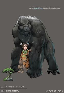 Gorilla and Monk girl
