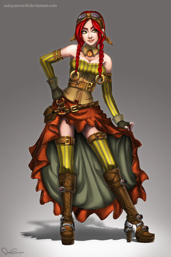 Steampunk girl 1