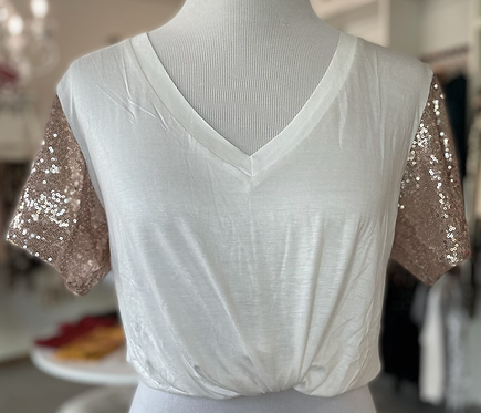 Sequin Rosegold Shirt