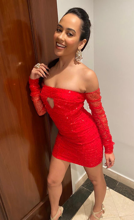 Red Holly Dress