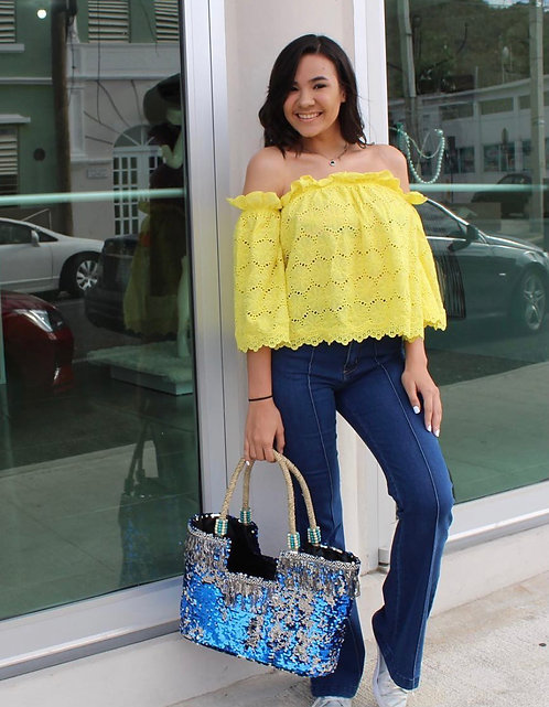 Eyelet yellow top